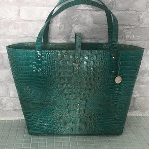 BRAHMIN ALL DAY TOTE MELBOURNE TURQUOISE